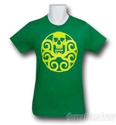 The Hydra Distressed Logo 30 Single T-Shirt is a soft, green t-shirt sporting the Hydra symbol! Superhero Symbols, Superhero Birthday Party, Geek Gear, 30 And Single, Logo, Mens Tops, T Shirt, Hail Hydra, Clothes