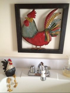 decorating with roosters and sunflowers | If you have roosters who\'d ...