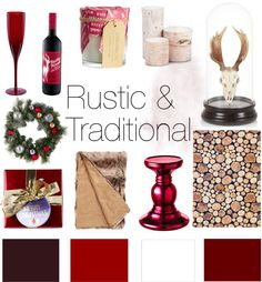 Rustic & Traditional: #Christmas décor inspiration board