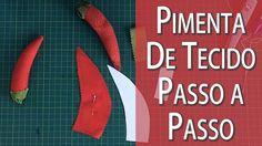 PIMENTA DE TECIDO PASSO A PASSO + MOLDE, FRUTA #6 DA MINHA CESTA Drica Tv