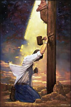 Ron DiCianni paints such powerful, vivid images of faith in Christ. How would I act if I truly comprehended that I nailed Him to the cross? Ron's art is so moving.
