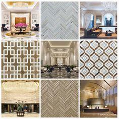"""""""The Lobby"""" Moroccan Tile, Decor, Lobby, Glass Tile, Walker Zanger, Transitional Style, Backsplash, Spanish Tile, Home Decor"""