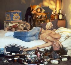 """Alice Cooper Hang Over by Terry O'Neill. American rock singer Alice Cooper reenacts the aftermath of a night of alcoholic excess, Beverly Hills, 1979. Limited Edition C-Print Signed and Numbered - 16"""" x 16"""" / 20"""" x 20"""" / 24"""" x 24"""" / 30"""" x 30"""" / 40"""" x 40"""" / 48"""" x 48"""" / 60"""" x 60"""" / 72"""" x 72"""" - For questions or prices please contact us at info@igifa.com"""