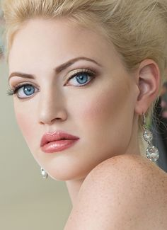 Cool. Elegance. What a great idea for wedding day makeup! Work done by Constante Makeup Artistry