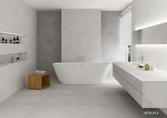 #BañoDeDiseño #TotalWhite #Interiorismo #Design #DECO #DecoraConCerámica…