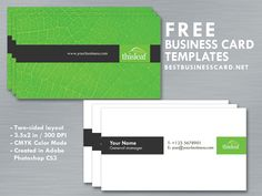 Photoshop50 k green is in so today we are giving away a simple business card template in green black and white color scheme card is print ready in editable psd reheart Gallery