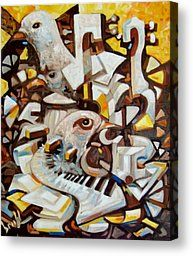 The Music Bird Painting by Pedro Brull - The Music Bird Fine Art Prints and Posters for Sale
