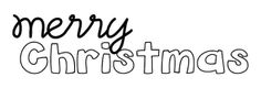 Free Merry Christmas sentiment