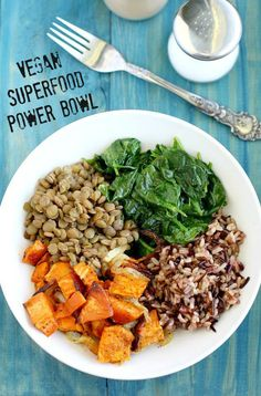 This hearty power bowl is the perfect lunch or dinner! Packed with nutrients and fiber from healthy superfoods! #vegan #glutenfree