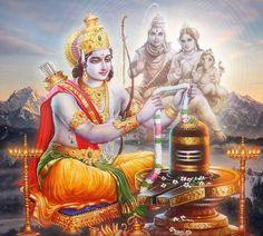Shiva Art, Hindu Art, Lord Vishnu, Lord Shiva, Shree Ram Images, Jay Shree Ram, Jai Ram, Bhagavata Purana, Lord Murugan