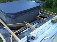 spabad inbyggt altan - Sök på Google Hot Tub Backyard, Home Upgrades, Jacuzzi, Garden Tools, Pergola, New Homes, Spas, Decking, Google