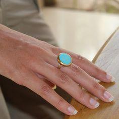 Turquoise+adjustable+ring+simple+everyday+ocean+by+inbalmishan