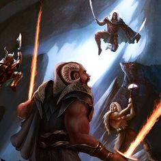 Drizzt Do'Urden and companions of the hall