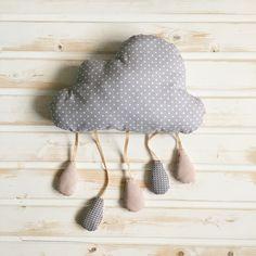 "Подушка-облако ""Серый горох"""