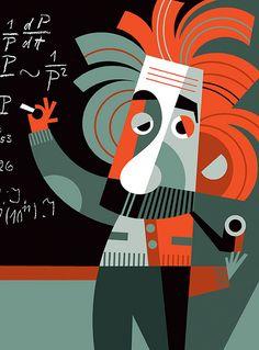 [ Albert Einstein ] - artist: Pablo Lobato - website: http://lobaton.wordpress.com/