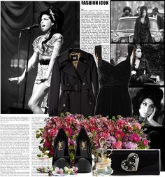 """""""Amy Winehouse - Back to black"""" by anastasiya-fomina-nastya on Polyvore"""