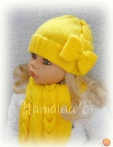 Diy Crafts For Home diy christmas crafts at home Knitted Baby Beanies, Baby Girl Beanies, Crochet Baby Beanie, Baby Hats Knitting, Knitted Dolls, Knitting For Kids, Baby Knitting Patterns, Knitted Hats, Crochet Hats