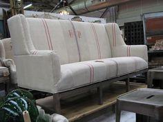 Grain Sack Upholstery Love