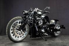 "Harley Davidson Night Rod Chopper Muscle ""Hiro"" by Bad Land Harley Davidson Night Rod, Harley Davidson Fatboy, Jeep Wheels, Road King Classic, Motorcycle Gear, Custom Bikes, Cool Bikes, Bobber, Chopper"