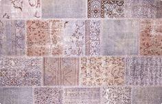 Vintage Patchwork Teppich - mozaiik Unikat Nr. 45TP