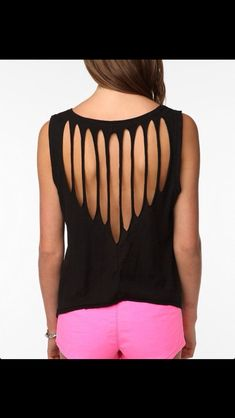 Heart Cut out back tshirt