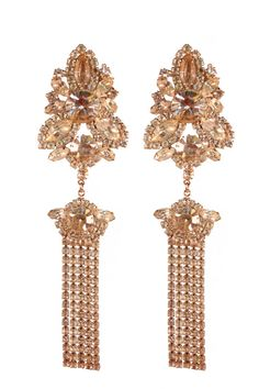 Chandelier vintage earrings full of sparkle and easy to wear as they are clip on. Great for a special occasion or everyday wear.