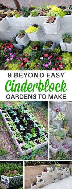 These 9 Easy Cinderblock Garden DIY Ideas Are PERFECT for a Small Backyard! | Cinder block garden | gardening | backyard ideas #gardening #cinderblockgarden #garden #gardenideas