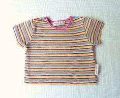 80s baby girl striped t shirt LazerBabyVintage, $9.00