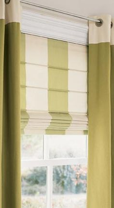 Energy Saving Roman Shades.. I love the simplicity of Roman Shades covering the windows.