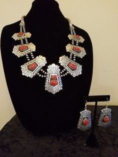 Contemporary Navajo necklace and earrings by Tommy Singer | eBay