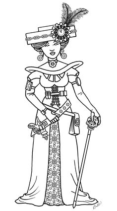 Steampunk Cards, Image Paper, Graphics Fairy, Embroidery Patterns, Embroidery Art, Printed Pages, Digi Stamps, Coloring Book Pages, Art Activities