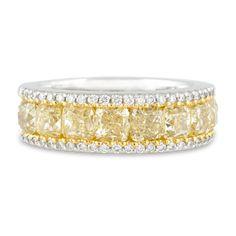 Estate Jewelry, Colored Diamonds, Fancy Yellow and White Diamond Ring  | M.S. Rau Antiques