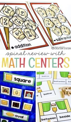 Math Centers are a great way for your students to get extra practice with math. Planning a spiral review in your math centers will help your students throughout the year. Here you will find some ideas for math centers along with some free printables. #mathcenters #math #mathreview #freeprintable #kindergarten