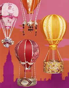 Miniature hot air balloons created for Vogue Gioiello's May edition and featured as the cover story