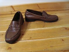 Women Comfort Dexter Brown Leather Penney Loafers Shoes 9M | eBay