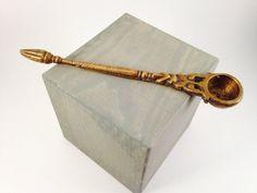 Vintage Hand-Cast Brass Measuring Spoon.