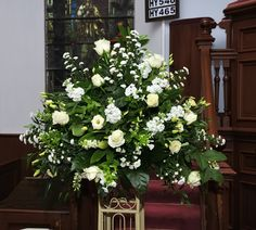 wedding floral arrangements for church | and creative flower arrangements for weddings, private homes, churches ...
