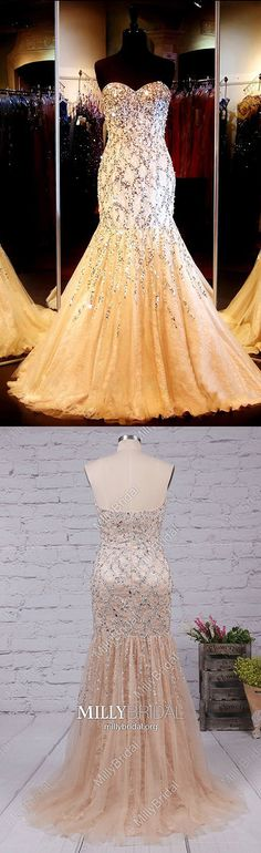 Sparkly Long Prom Dresses Mermaid,Champagne Formal Evening Dresses Sweetheart,Modest Military Ball Dresses Lace,Elegant Tulle Wedding Party Dresses with Beading Affordable Prom Dresses, Formal Dresses For Teens, Unique Prom Dresses, Beautiful Prom Dresses, Prom Dresses Online, Elegant Wedding Dress, Pageant Dresses, Tulle Wedding, Party Dresses