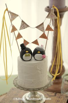 Penguins wedding cake topper by MochiEgg on Etsy