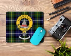 Rubber mousemat with Macneil clan crest and tartan - only from ScotClans