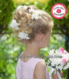 Flower Girl Updo Hairstyle Idea