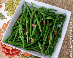 Green Beans with Bacon Vinaigrette - For the Love of Cooking