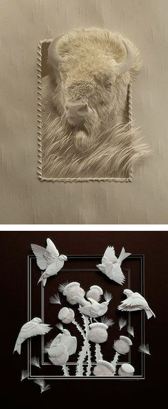 Realistic Wildlife Paper Sculptures by Calvin Nicholls Inspiration Grid Design Inspiration