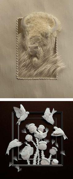 Realistic Wildlife Paper Sculptures by Calvin Nicholls | Inspiration Grid | Design Inspiration