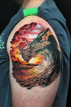 Sunset Wave by Jhon Gutti : Tattoos