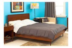 Midcentury Modern Queen Bed / Beds / Bedroom by urbangreen Furniture New York