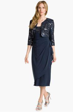 Alex Evenings Sequin Drape Dress & Bolero available at Nordstrom