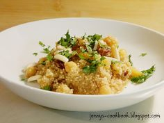 Jenny's Cookbook: Moroccan Quinoa with Chickpeas and Raisins