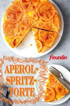 Sie lieben Aperol Spritz und Kuchen? Dann ist diese Torte genau das Richtige für Sie. Denn sie ist die perfekte Kombination aus beidem Aperol, Cupcakes, French Toast, Bakery, Cheesecake, Food And Drink, Breakfast, Ethnic Recipes, Birthday Cakes