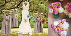 dresses hanging from the tree...love